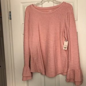 Sweaters - Light pink bell sleeve sweater
